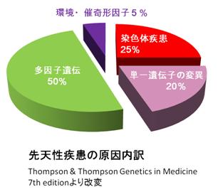 先天性疾患の内訳 円グラフ